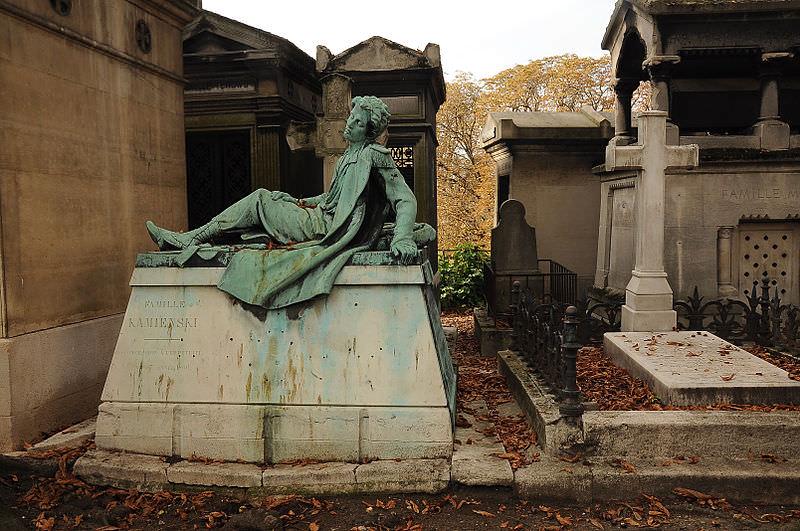 Montmartre Cemetery - tomb of Miecislas Kamienski