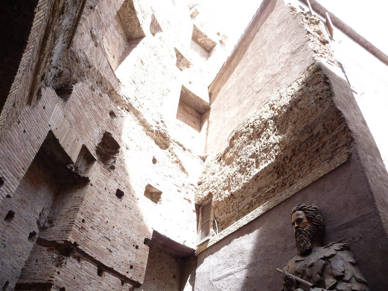 Remnants of Roman Baths at the Santa Maria degli Angeli
