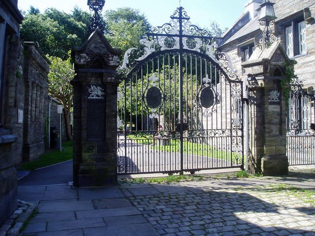 Gates to Plas Machynlleth by Eirian Evans