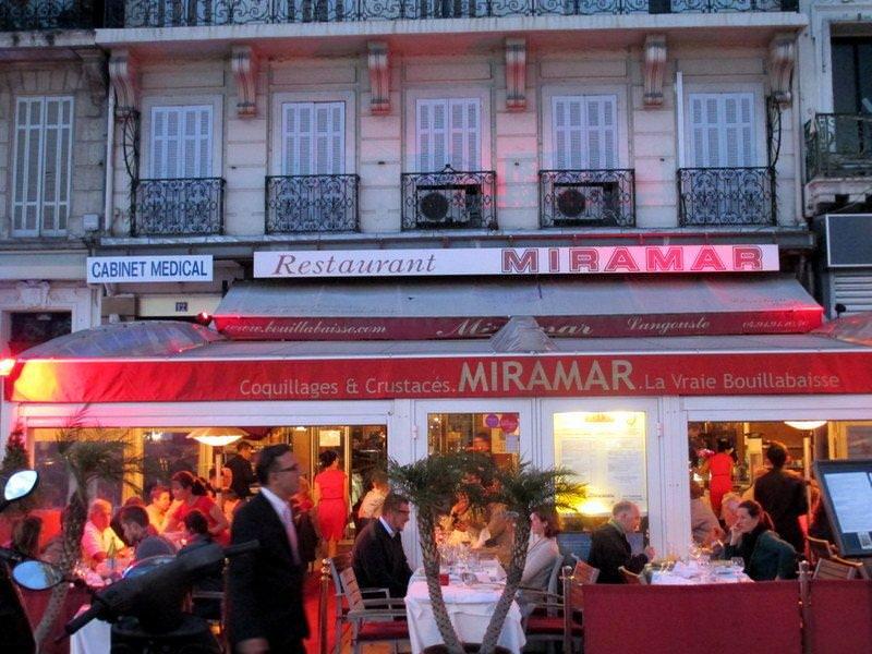 Le Miramar waterside restaurant, Marseille
