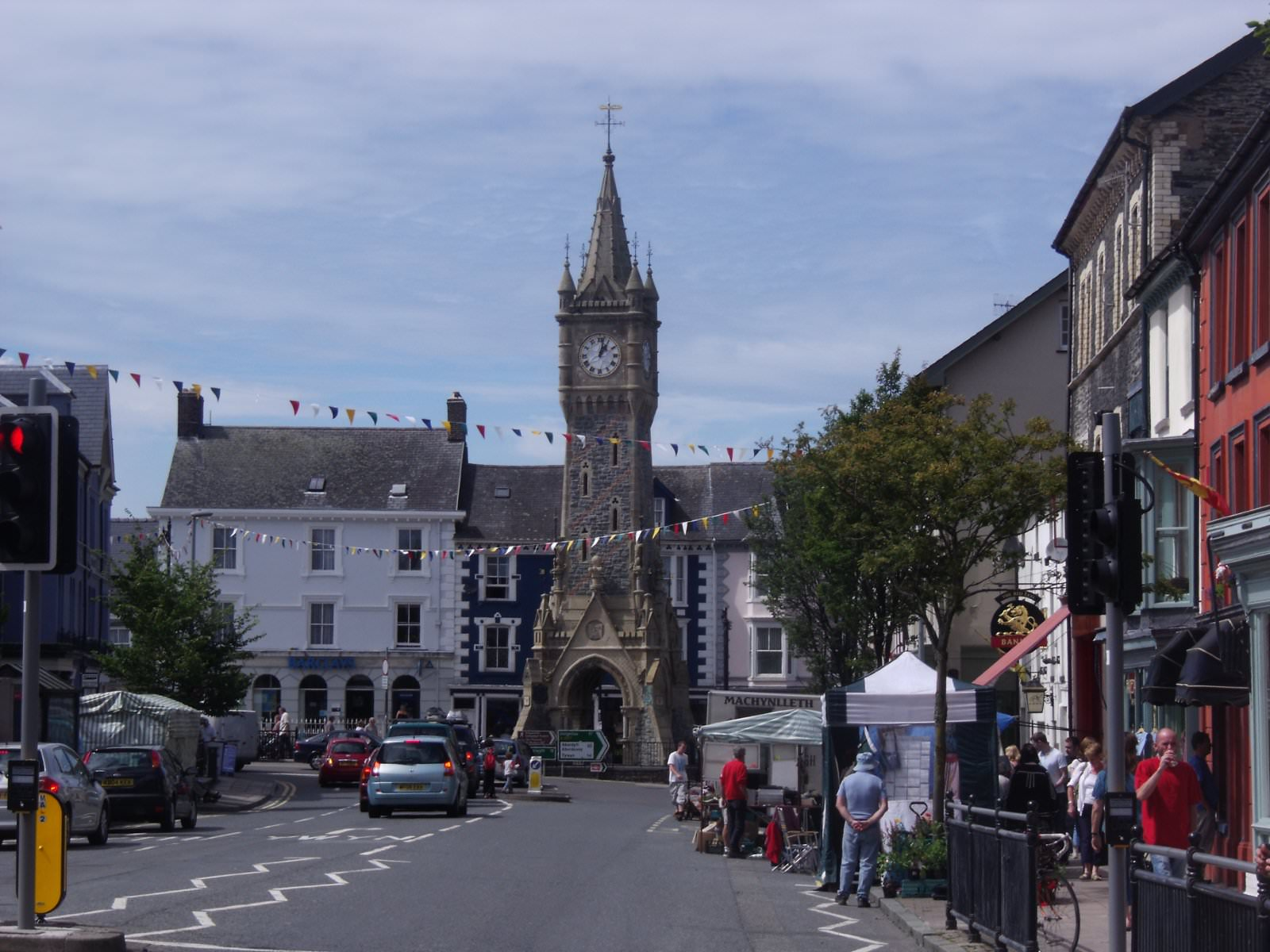 Machynlleth Clock Tower by Peter Broster