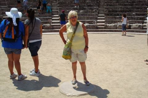 Ruth at the Epidaurus Theater