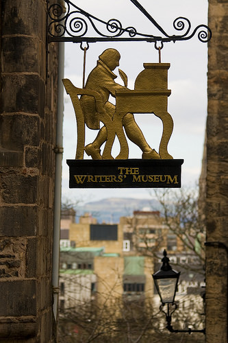 Writers' Museum Sign