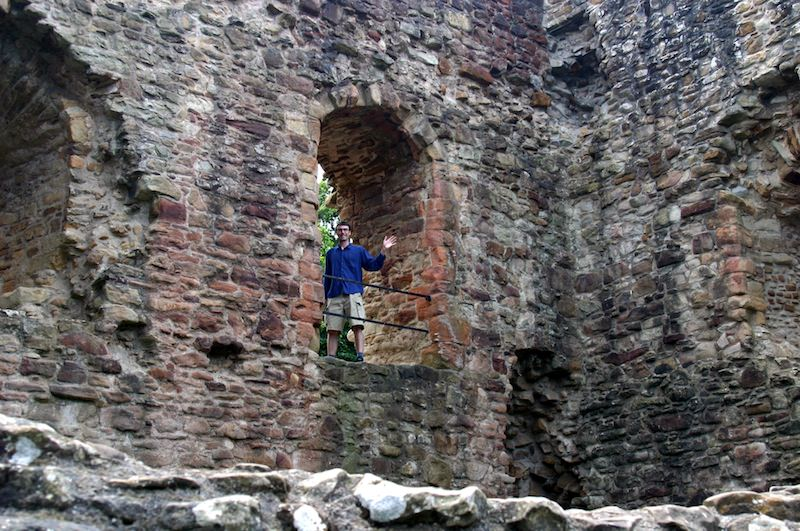 Erik Waving from Ewloe's Tower by Carrie Uffindell