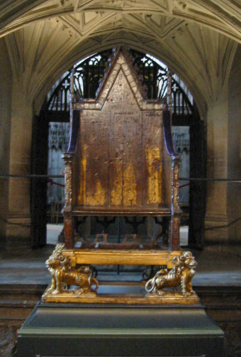 King Edward's Coronation Chair in Westminster Abbey