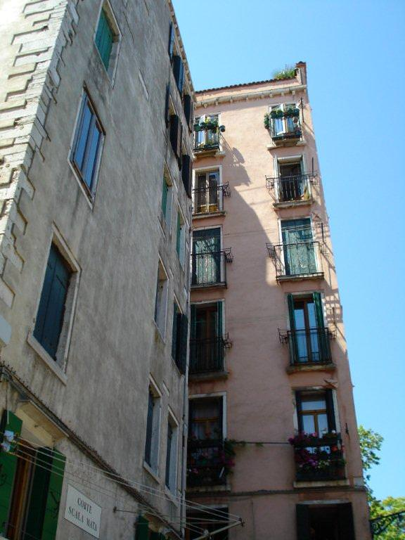 Tall houses in the Jewish Ghetto of Venice