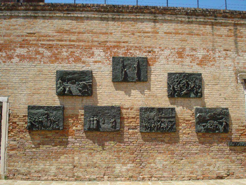 The memorial wall in Venice