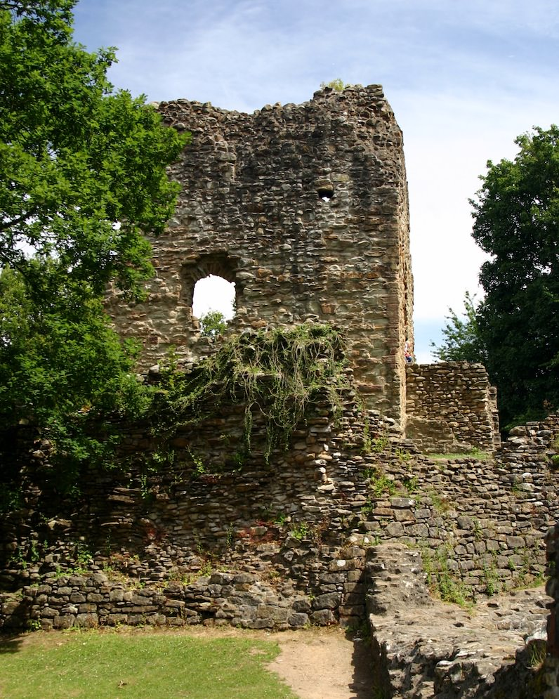 View of Ewloe's D-Shaped Tower by Carrie Uffindell