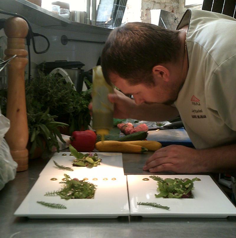 Vine Bridge chef at work