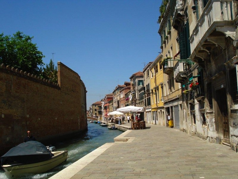The wall separating the ghetto from the other parts of Venice