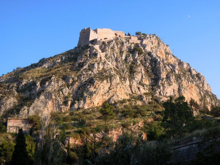 Palamidi Fortress looms above Nafplio