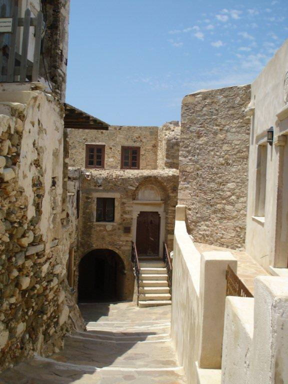 Street in Kastro, Naxos