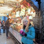 Berlin, Germany-acting like a local while sipping hot cider at an outdoor market
