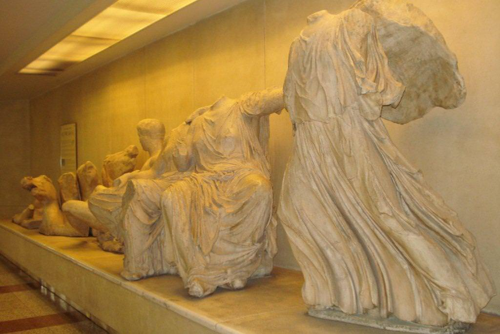 Artifacts at the Acropolis Metro Station
