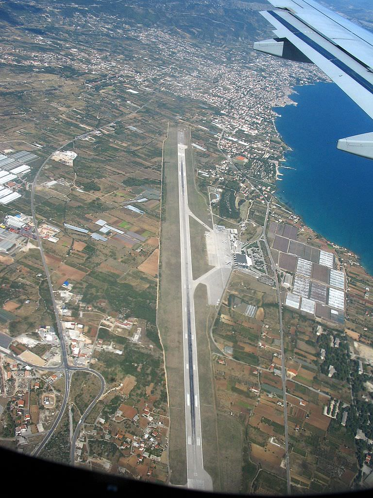 Split, Croatia as seen from plane