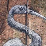 Crane by Belgian artist Roa