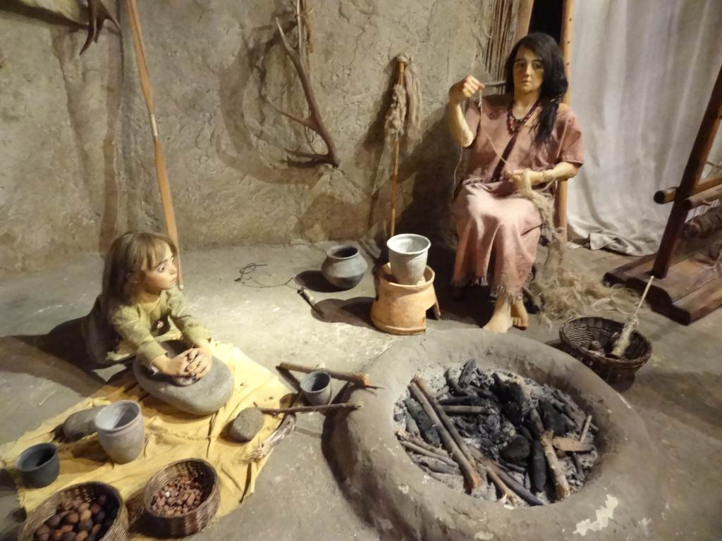 Bronze Age display at the Museo dei Grandi Fiumi in Rovigo
