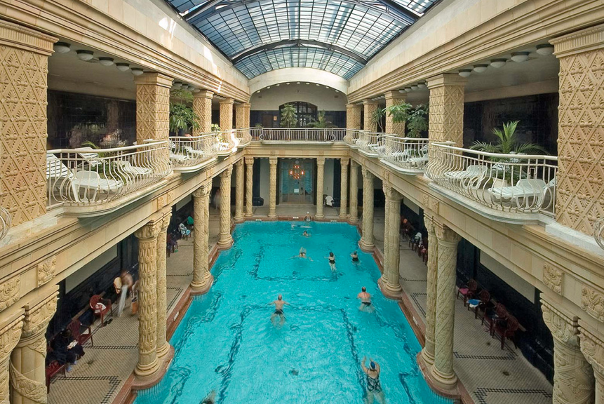 The Gellert Baths are luxurious and world-class