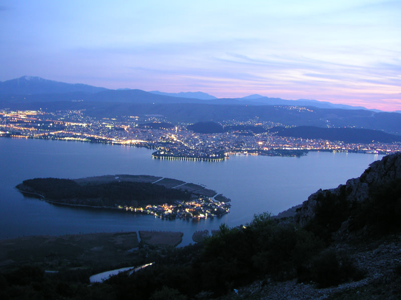 View over Ioannina, Greece
