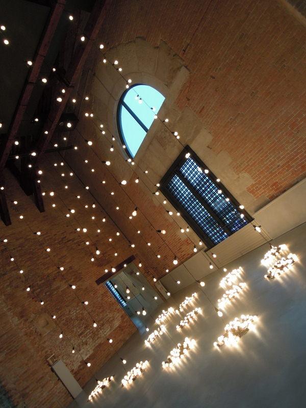 Light installation at Punta Della Dogana