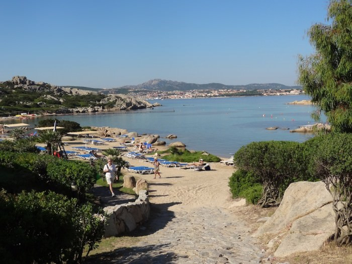 The main beach at Santo Stefano Resort.
