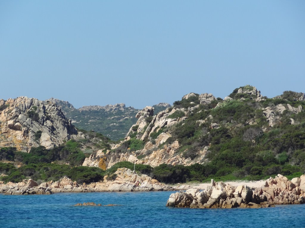 Typical landscape of the Maddalena archipelago
