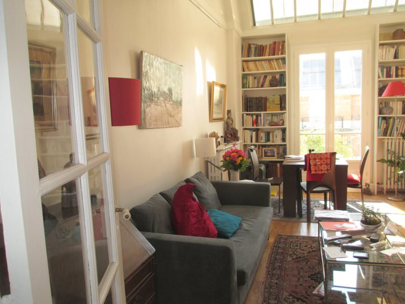 Living area in our Paris Apartment