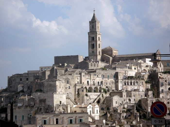 Church tower above Matera