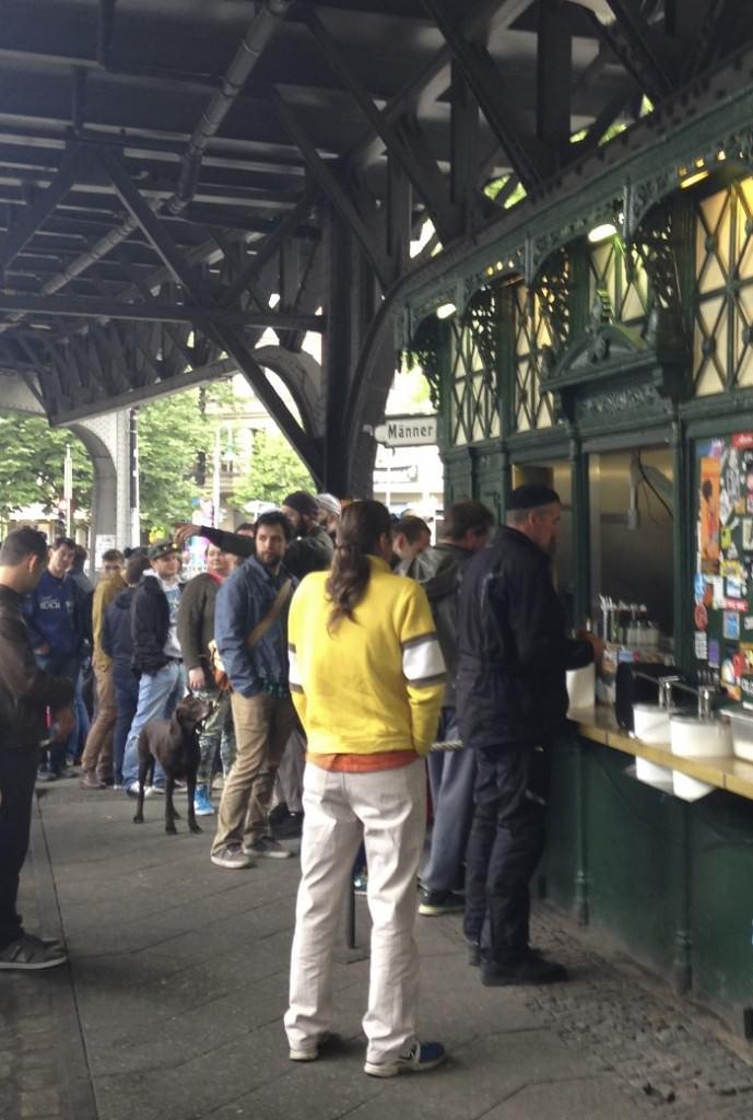 The ubiquitous line at Burgermeister