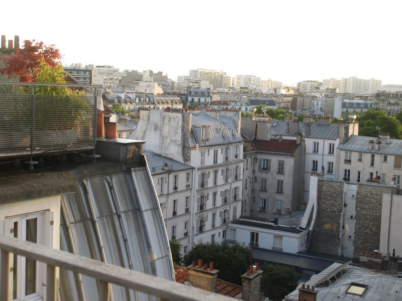 View from Paris apartment roof terrace