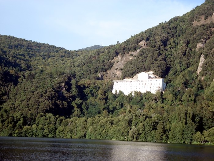 View of a Lake in Monticchio. It is One of Two Lakes in the Regional Park Formed from the Remains of a Volcanic Crater.