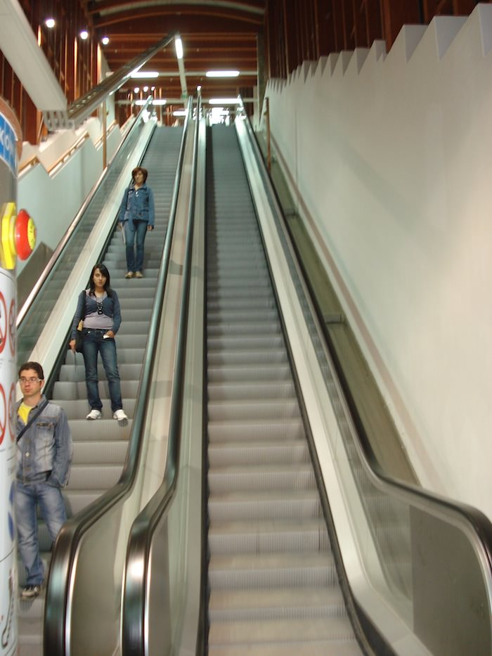 One of Potenza's Many Escalators, Forming the Largest Pedestrian Escalator System in Europe