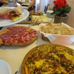 Part of lunch buffet at Agriturismo Corte Carezzabella