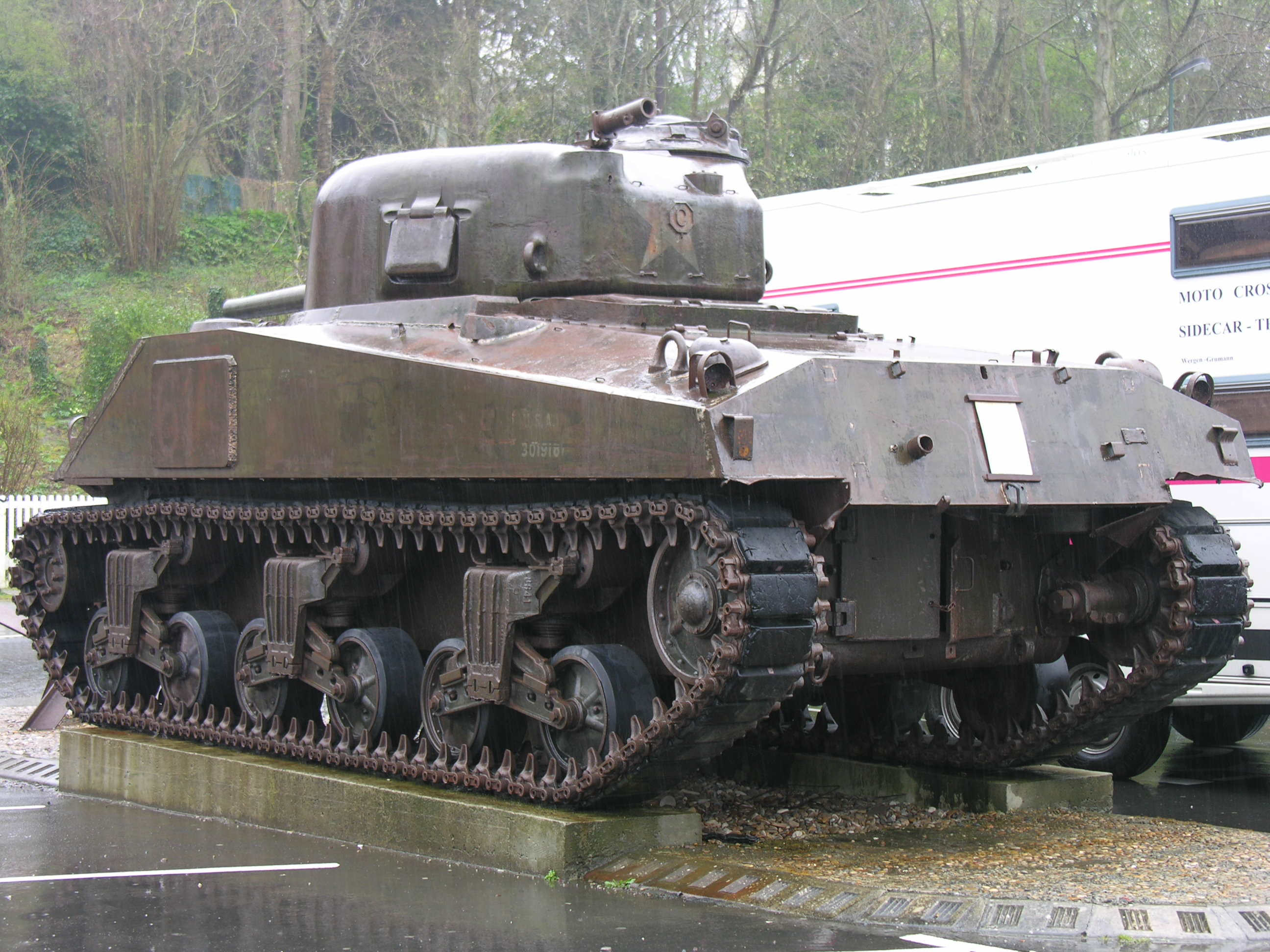 Sherman tank outside WWII Museum