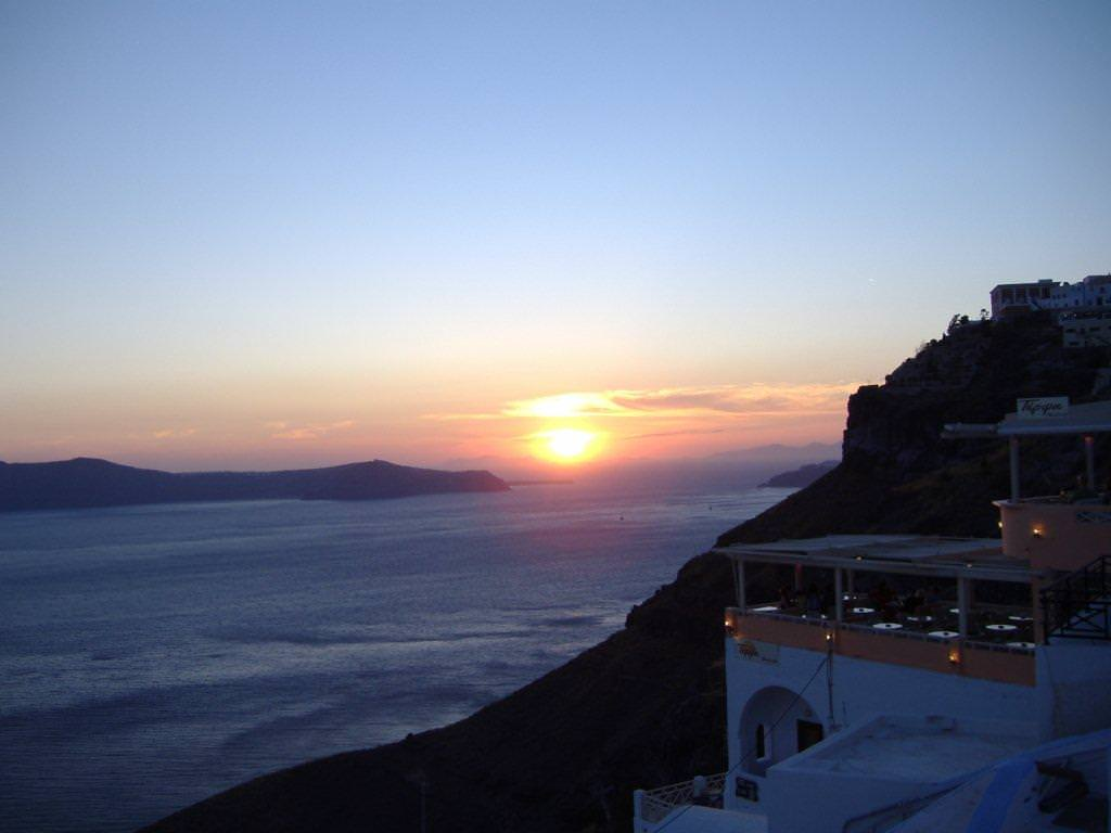 Sunset in Santorini by Jean Nielson