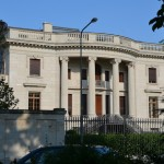 The Villa Sohnlein is a scale knock-off of the White House in Washington D.C.