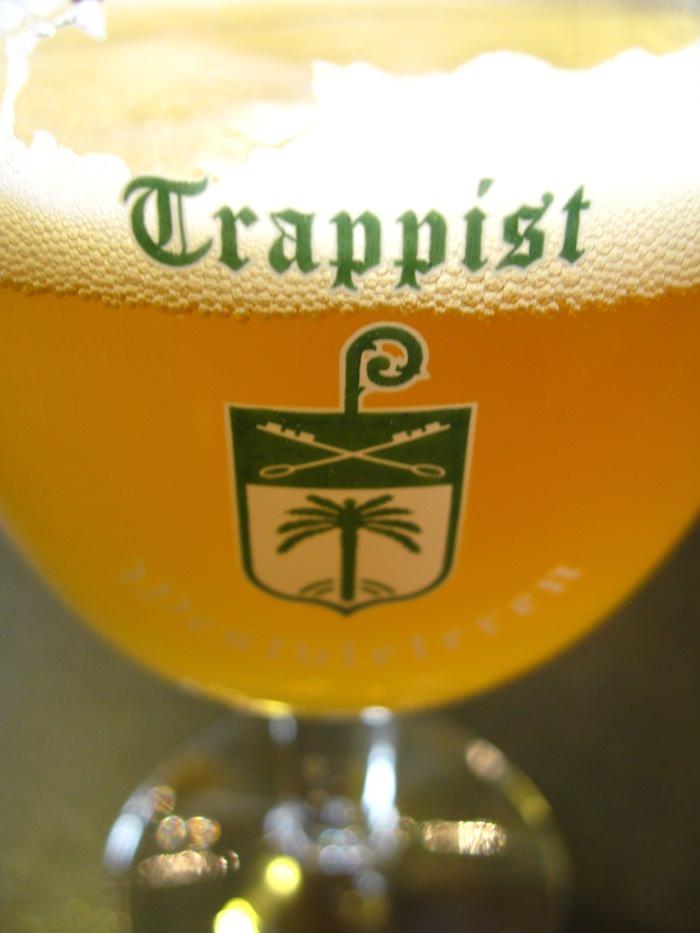 A glass of refreshing Westvleteren blond