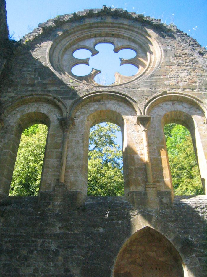 Cathedral remains at the Abbey Notre Dame d'Orval - Photo by Joe Stange