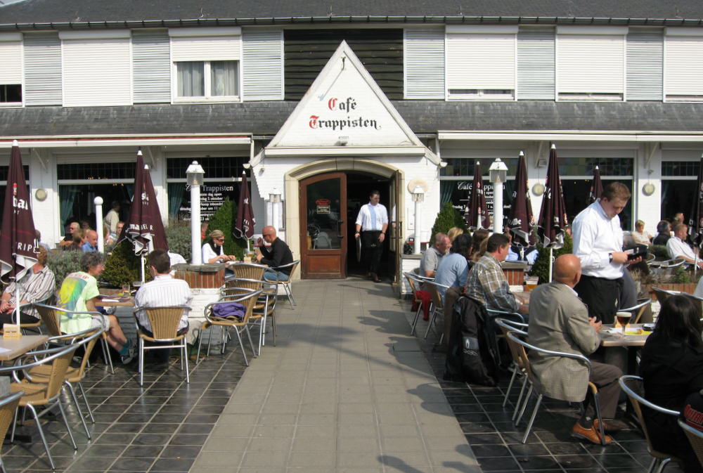 The Sprawling Terrace of Café Trappisten Official Brewery Tap of Westmalle – Photo by Joe Stange