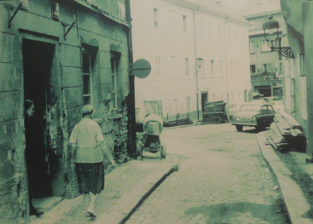Shabby Street Scene from the Communist Past