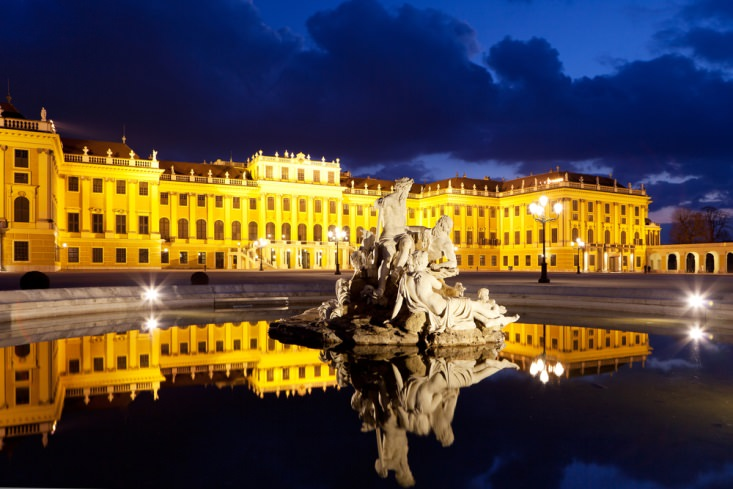 The Beautiful Schonbrunn Palace in Vienna
