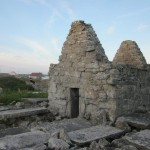 ruins of an old house on inis meain