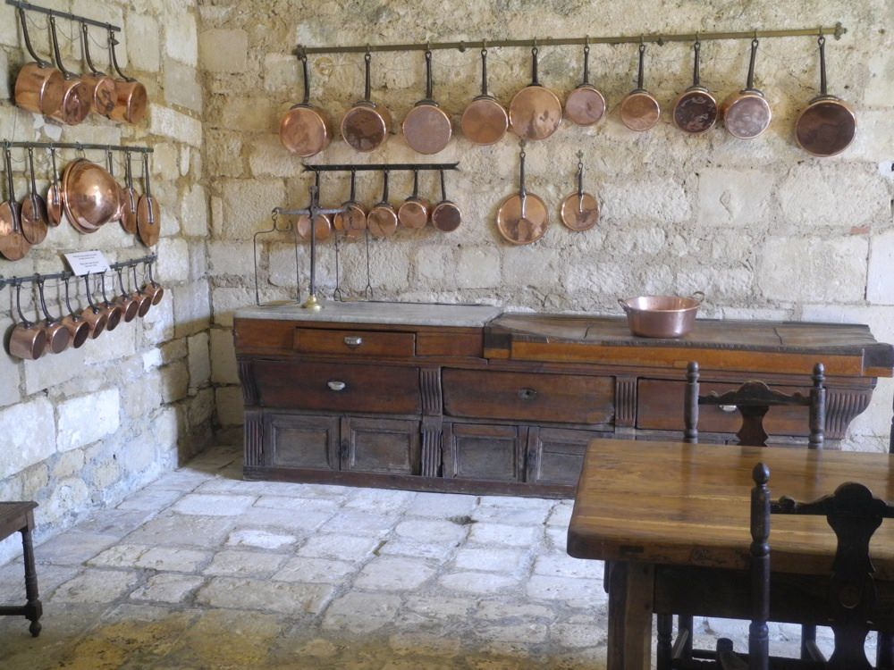 The kitchen at Chateau Rochefoucauld