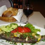 Typical Greek Fish dinner