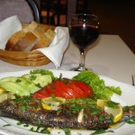Typical Greek Fish dinner