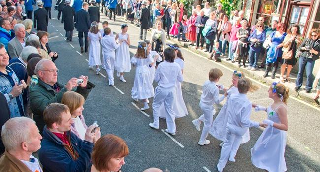 The Flora Day Parade