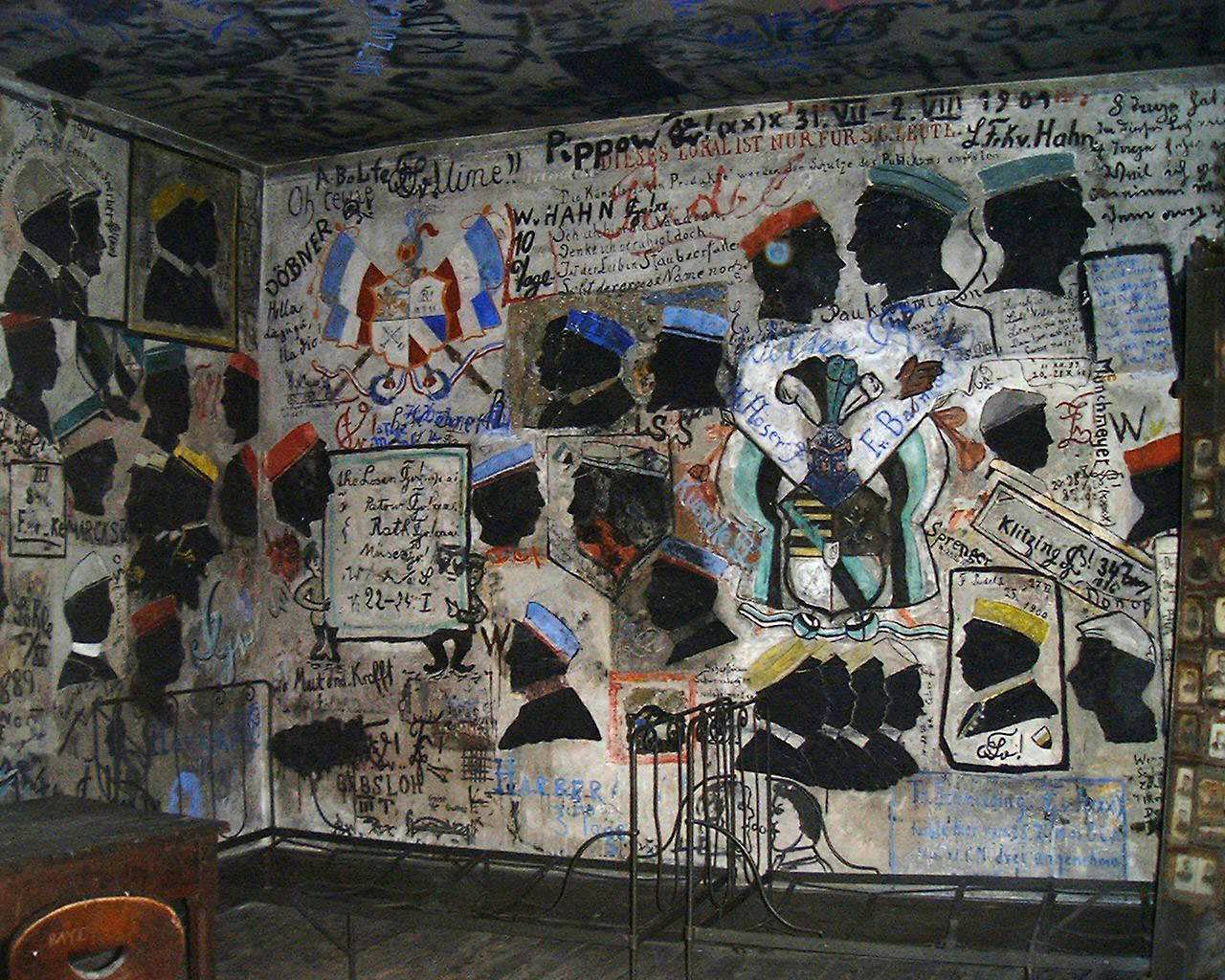 Student Graffiti in the Studentekarzer -photo by Wikipedia