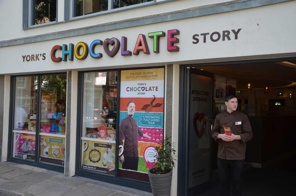 I'd be remiss if I didn't mention the York's Chocolate Story on King's Square. Now established as a bona fide tourist attraction this tour takes you on a journey through the story of chocolate and confectionery in York.