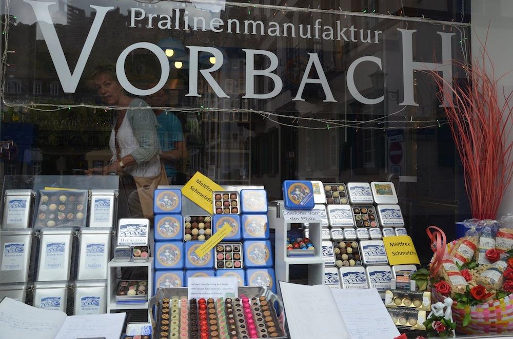 Famous praline manufacturer Helgo Vorbach's small store.