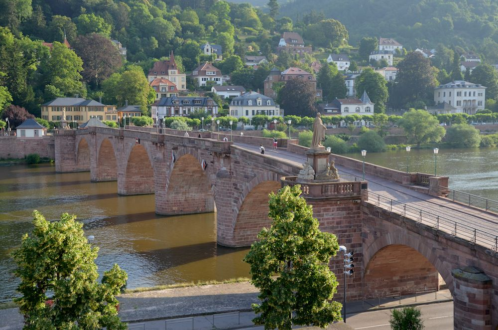 Spanning the River Neckar, the Old Bridge is One of Heidelberg's Most Renowned Landmarks.